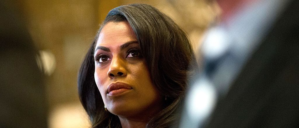 Omarosa Manigault listens as Martin Luther King III speaks to the media after meeting with President-elect Donald Trump at Trump Tower in New York City on January 16, 2017. (Photo: DOMINICK REUTER/AFP/Getty Images)