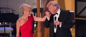 Did Kellyanne Conway Deck A Guy At An Inaugural Ball?