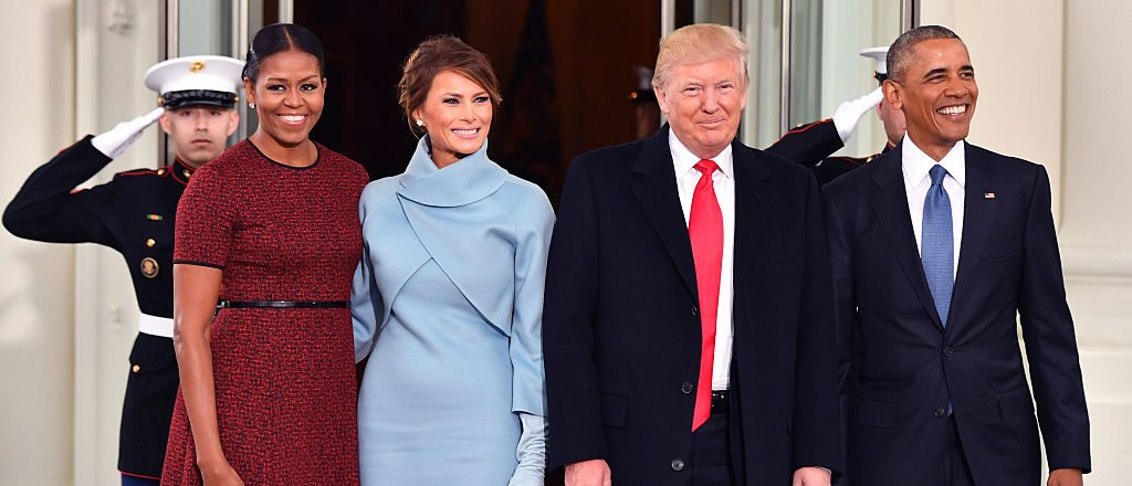 Michelle Obama, Melania Trump, Donald Trump, Barack Obama (Getty Images)
