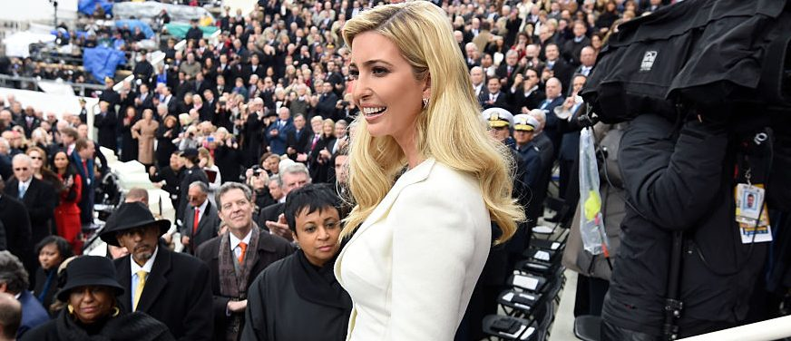WASHINGTON, DC - JANUARY 20: Ivanka Trump arrives for the Presidential Inauguration of her father Donald Trump at the US Capitol on January 20, 2017 in Washington, DC. Donald J. Trump will become the 45th president of the United States today.  (Photo by Saul Loeb - Pool/Getty Images)