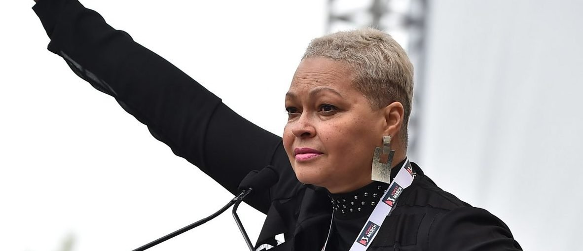 WASHINGTON, DC - JANUARY 21: Donna Hylton speaks onstage during the Women's March on Washington on January 21, 2017 in Washington, DC. (Photo by Theo Wargo/Getty Images)