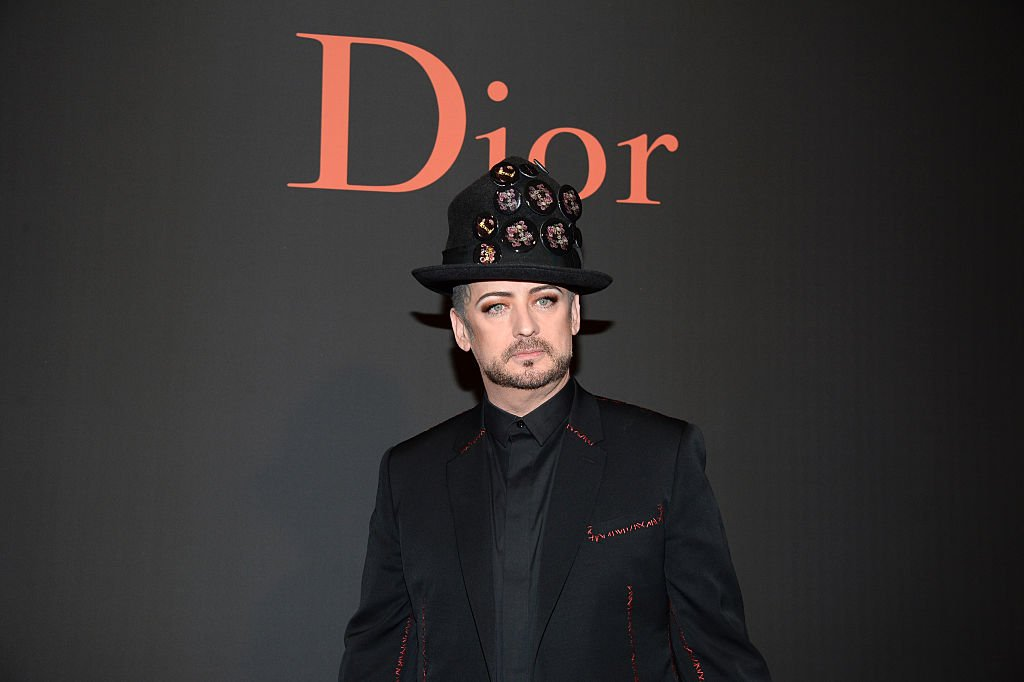 Boy George attends the Dior Homme Menswear Fall/Winter 2017-2018 show as part of Paris Fashion Week (Photo credit: Getty Images)