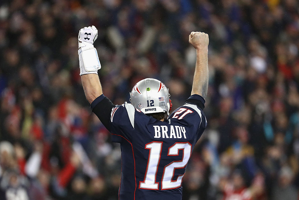 Tom Brady in the AFC Championship Game at Gillette Stadium on January 22, 2017 in Foxboro, Massachusetts.
