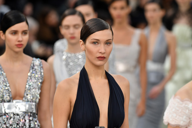 PARIS, FRANCE - JANUARY 24: Bella Hadid walks the runway during the Chanel Spring Summer 2017 show as part of Paris Fashion Week on January 24, 2017 in Paris, France. (Photo by Pascal Le Segretain/Getty Images)