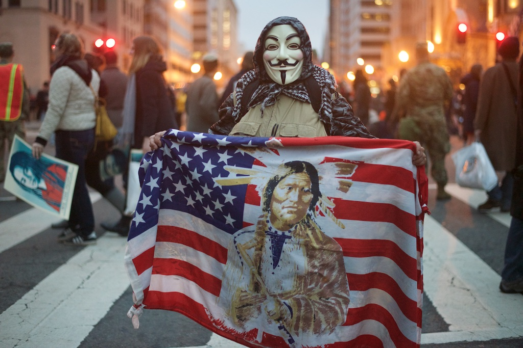 Masked protester on the streets of Washington DC. - Daily Caller - Abbey Jaroma