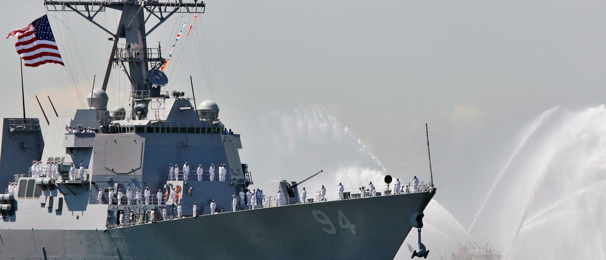 The USS Nitze, a Guided Missile Destroyer is pictured in New York Harbor, May 24, 2006. REUTERS/Peter Foley/File Photo