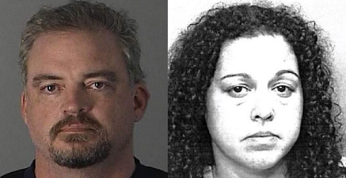 Mug shots of fired VA workers DeWayne Hamlin and Elizabeth Rivera / Police photos