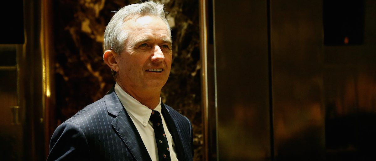 Robert F. Kennedy Jr. gestures stands in the lobby of Trump Tower in Manhattan, New York, January 10, 2017. REUTERS/Shannon Stapleton