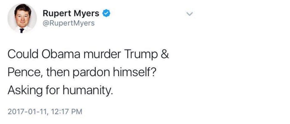 Rupert Myers Tweet: Twitter Screenshot