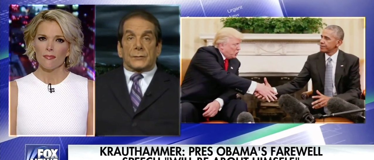 Charles Krauthammer on the Kelly File (Fox News)