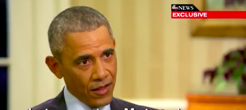 President Barack Obama on This Week, screen capture from Twitter video