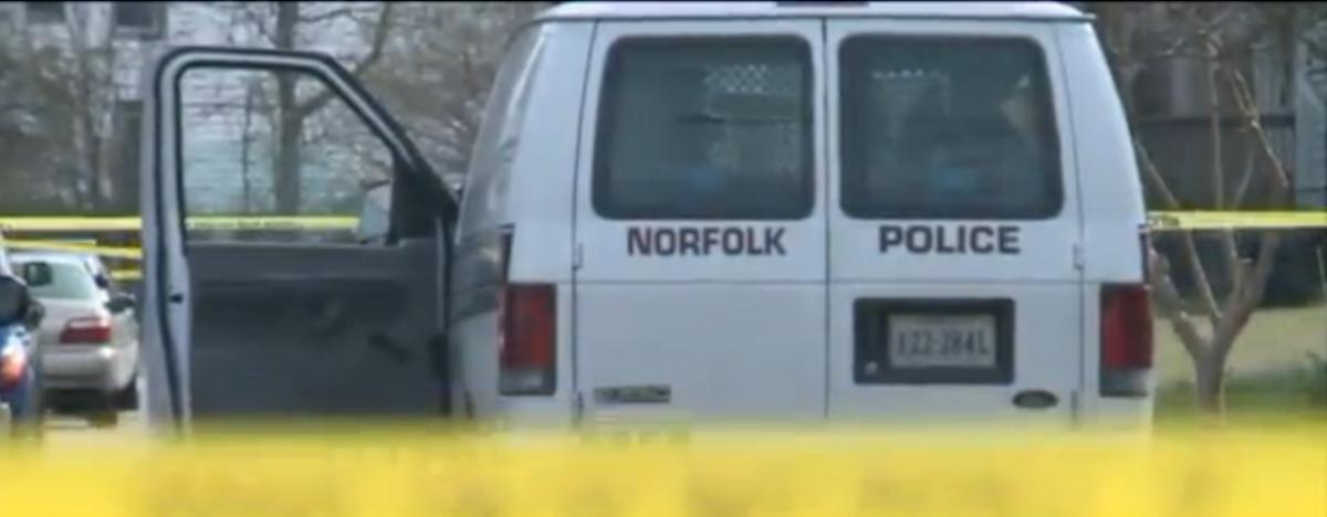 Norfolk Police van (WTKR Video Screen Shot)