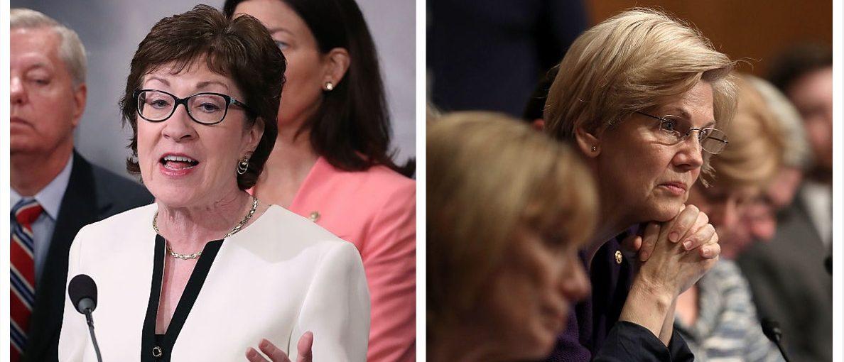 Susan Collins, Elizabeth Warren (Getty Images)