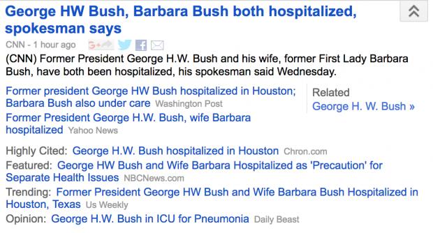 Screenshot of Google News