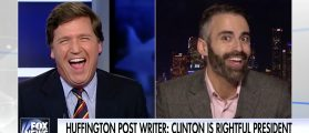 HuffPo Writer Gets Backed Into A Corner — Likens Tucker To Anti-Semite Lyndon LaRouche [VIDEO]