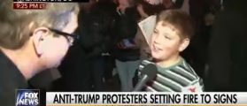 Young Kid Sets Fire At Anti-Trump Protest Because He 'Felt Like It' [VIDEO]