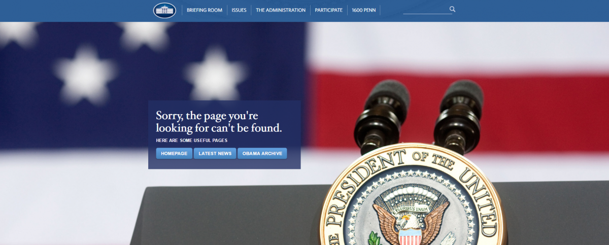 Whitehouse.gov screenshot