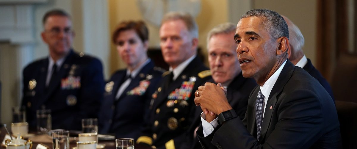 U.S. President Barack Obama meets with Combatant Commanders and Joint Chiefs of Staff at the White House in Washington, DC