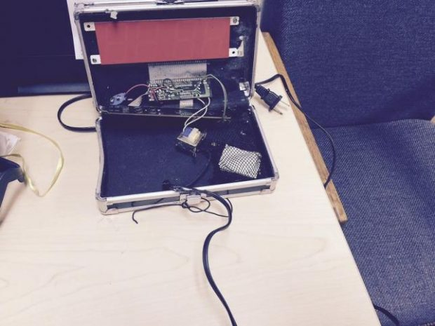 A homemade clock made by Ahmed Mohamed. REUTERS/Irving Texas Police Department