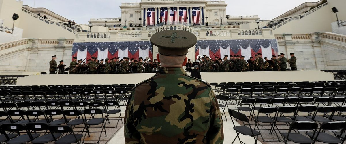 The President's Own Marine Band rehearses for the inauguration of U.S. President-Elect Donald Trump at the U.S. Capitol in Washington
