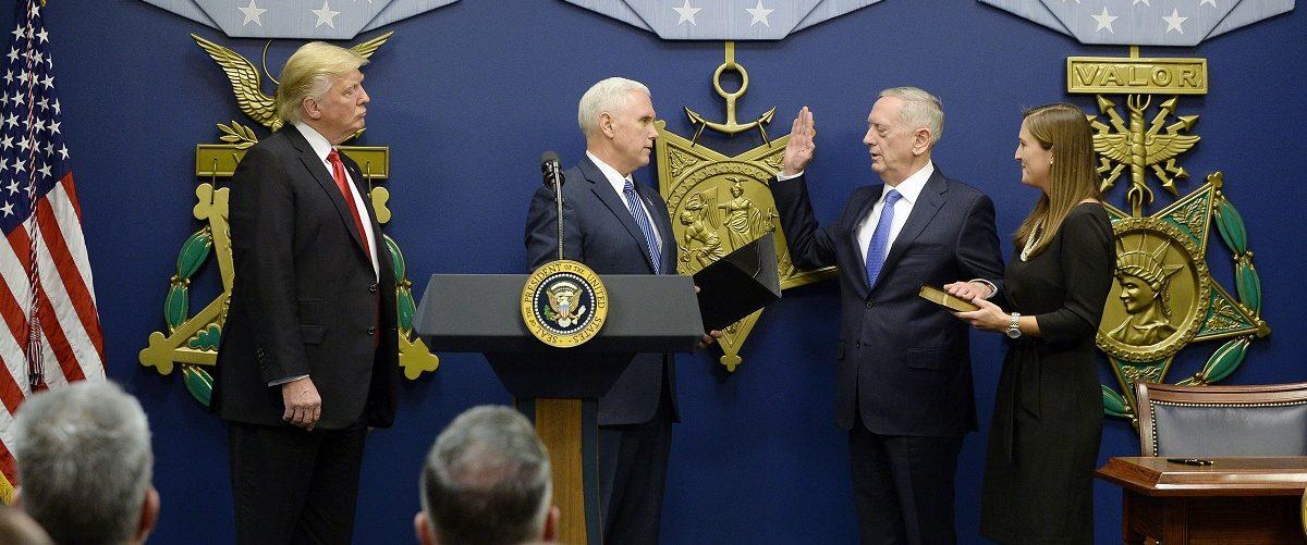 General James Mattis Sworn In As U.S. Defense Secretary