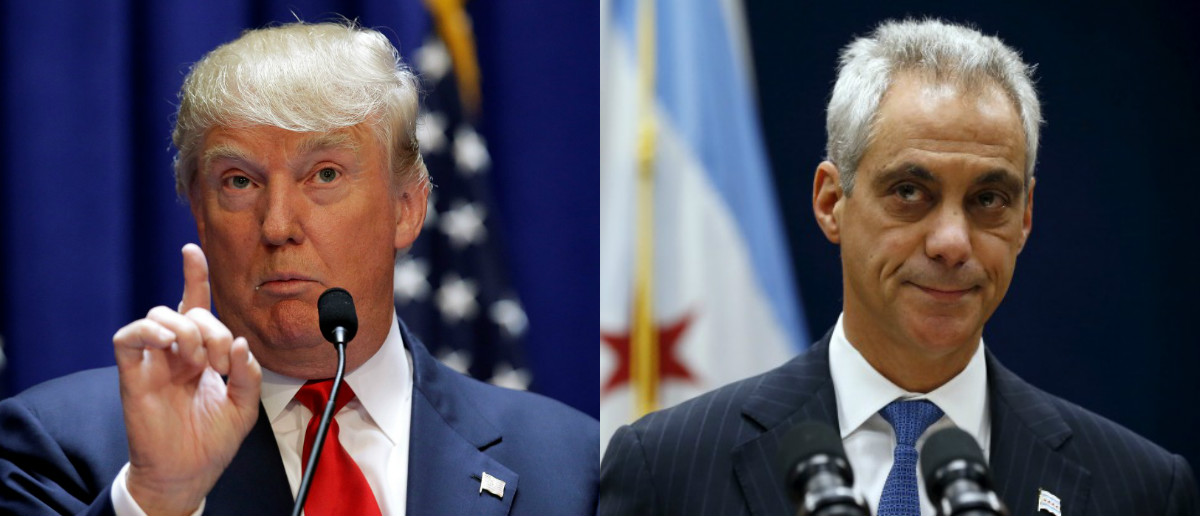 Donald Trump (Reuters) and Rahm Emanuel (Reuters)
