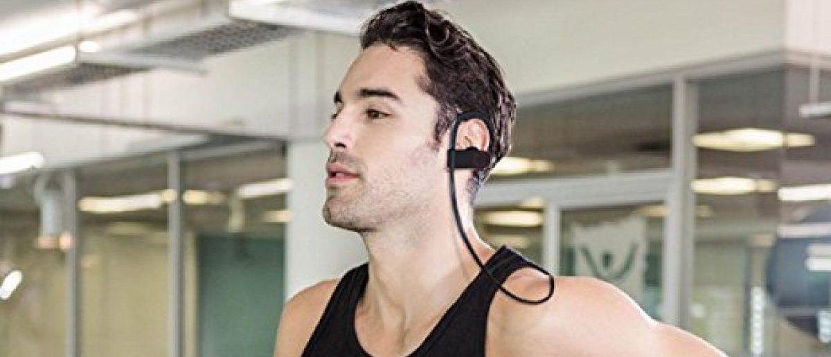 The headphones work great for this guy (Photo via Amazon)