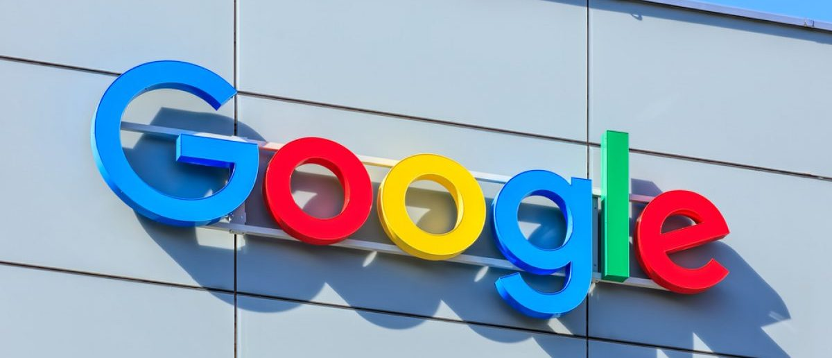 Zurich, Switzerland - 20 April, 2016: Google sign on the wall of the Google office building. Google is a multinational technology company specializing in Internet-related services and products. [Denis Linine / Shutterstock, Inc.]