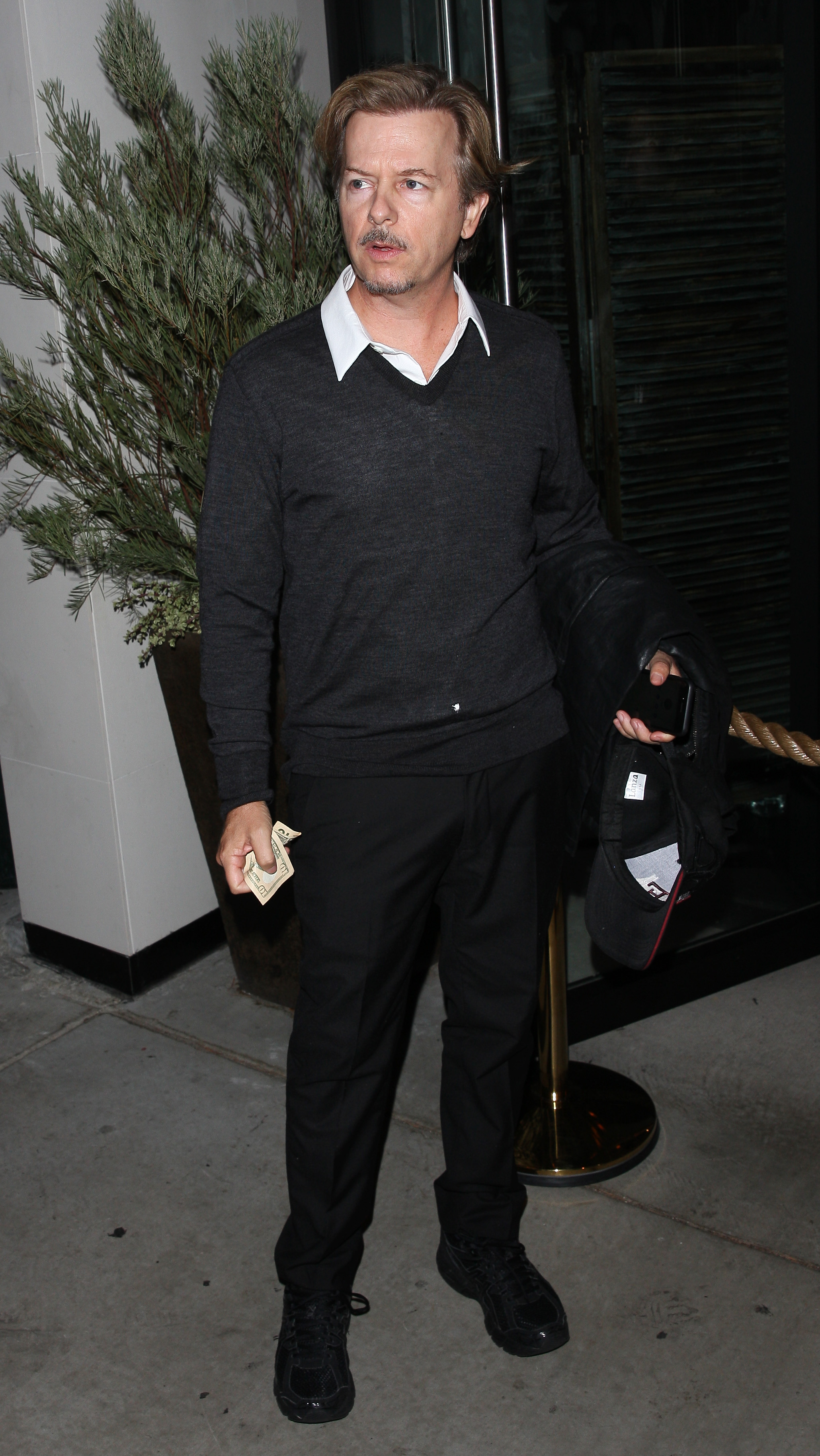 David Spade is seen arriving for dinner at Catch restaurant in West Hollywood (Photo credit: Splash News)