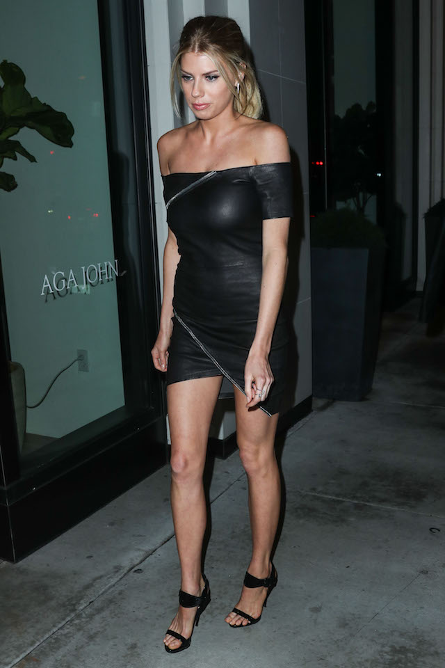 Charlotte McKinney arrives at the Los Angeles Premiere Of Crackle's 'Mad Families' held at Catch LA on January 9, 2017 in West Hollywood, California. <P> Pictured: Charlotte McKinney <B>Ref: SPL1420069 090117 </B><BR /> Picture by: IPA/Splash News