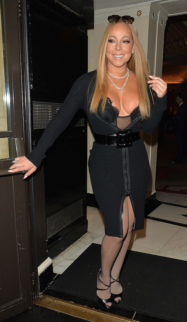 Singer Mariah Carey arriving at the Dorchester Hotel to perform at a wedding. Pictured: Mariah Carey Ref: SPL1420357 150117 Picture by: Gotcha Images / Splash News