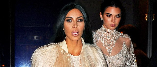 Kim Kardashian and Kendall Jenner look stunning in beautiful gowns as they head out for filming for their cameo in 'Oceans 8' in New York, New York. Pictured: Kim Kardashian and Kendall Jenner Ref: SPL1423460 160117 Picture by: Jawad Elatab / Splash News