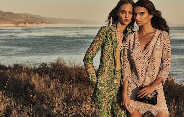 Emily Ratajkowski shows off her bikini body as she models for Italian brand, Twinset. The Blurred Lines stunner, 25, poses by the sea along with model Sasha Pivovarova in the spring-summer 2017 campaign for the fashion house. The pair wear bohemian inspired looks including maxi dresses, crochet tunics and embellished jackets. The campaign was shot by Giampaolo Sgura. Editorial use only. *Mandatory credit Splash/Twinset/Giampaolo Sgura* <P> Pictured: Emily Ratajkowski and Sasha Pivovarova model for Twinset campaign <B>Ref: SPL1431599 300117 </B><BR /> Picture by: Splash News/Twinset<BR /> </P><P> <B>Splash News and Pictures<