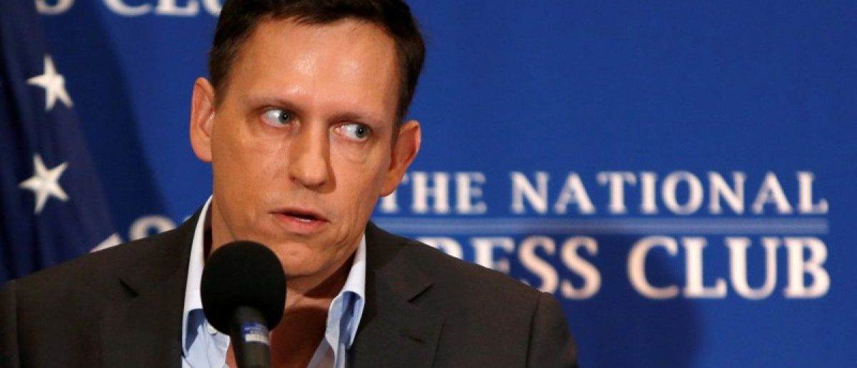 FILE PHOTO - PayPal co-founder and Facebook board member Thiel delivers speech on US presidential election at the National Press Club in Washington