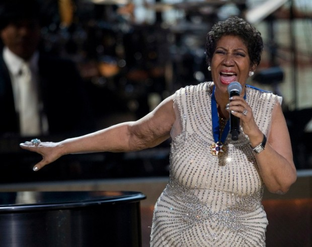 BET honoree singer Aretha Franklin performs onstage at BET Honors 2014 at Warner Theatre in Washington on February 8, 2014. REUTERS/Jose Luis Magana/File Photo