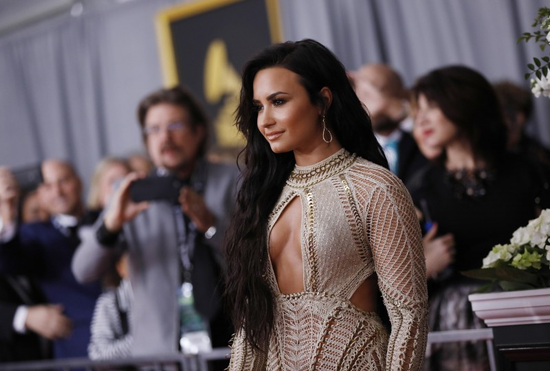 Singer Demi Lovato arrives at the 59th Annual Grammy Awards in Los Angeles, California, U.S. , February 12, 2017. REUTERS/Mario Anzuoni