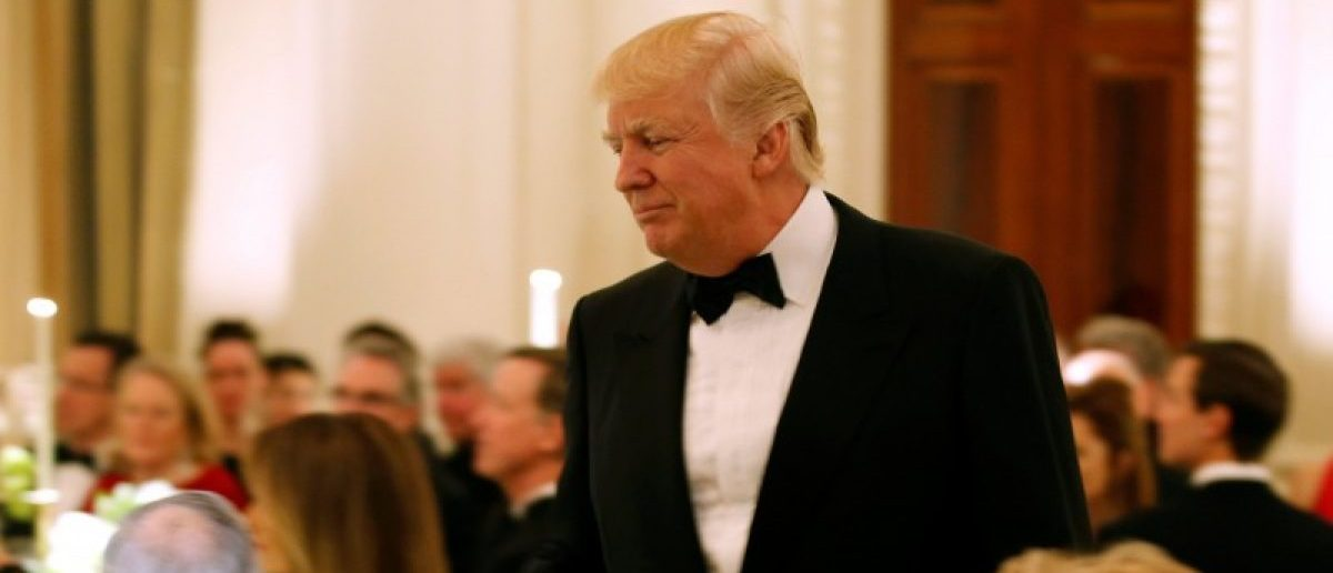 U.S. President Donald Trump walks after speaking during the Governor's Dinner in the State Dining Room at the White House in Washington, U.S., February 26, 2017. REUTERS/Joshua Roberts