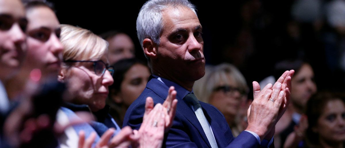 Chicago Mayor Rahm Emanuel applauds as U.S. President Barack Obama delivers his farewell address in Chicago, Illinois, U.S. January 10, 2017. Picture taken January 10, 2017. REUTERS/Jonathan Ernst