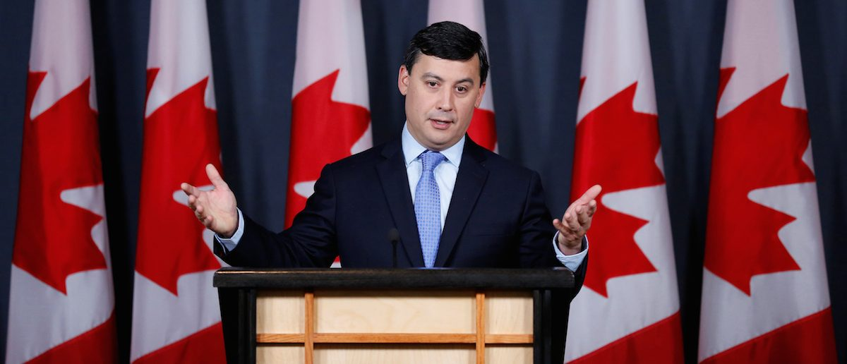 Conservative MP Michael Chong speaks during a news conference to announce he is running for the leadership of Conservative party in Ottawa, Canada, May 16, 2016. REUTERS/Chris Wattie