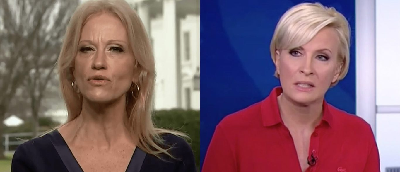 Kellyanne Conway and Mike Brzezinski (Photos: NBC/MSNBC screen grabs)