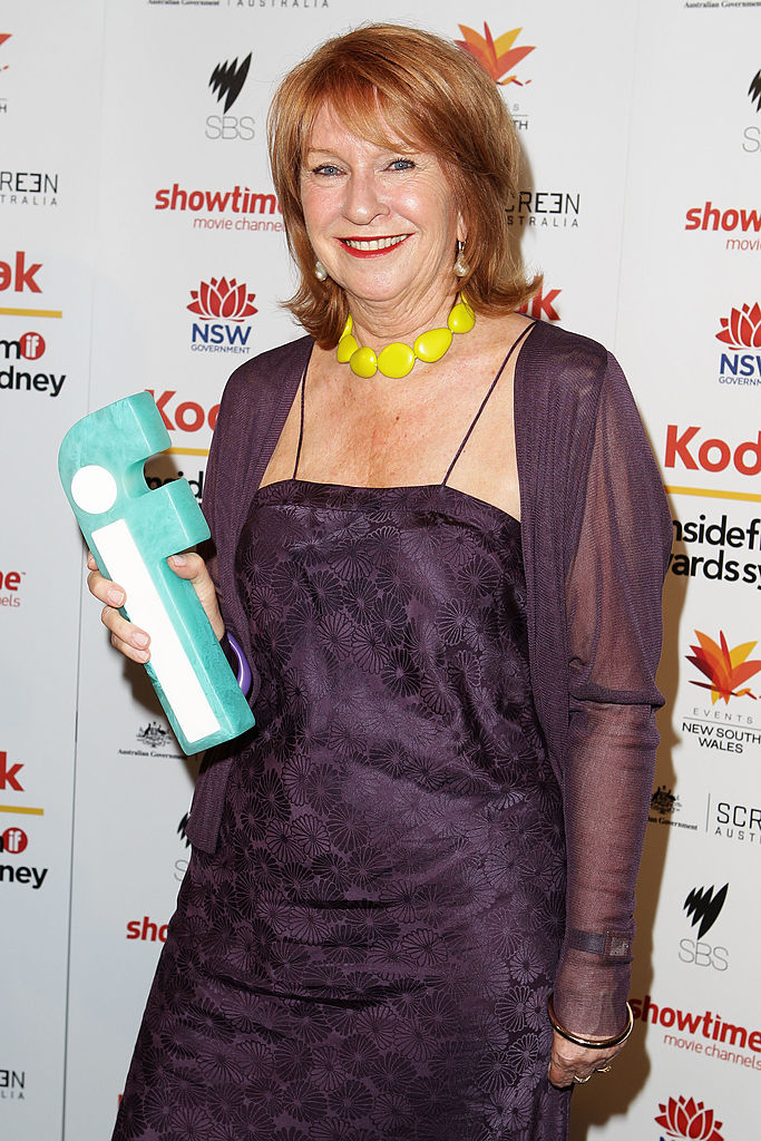 Janet Patterson poses with her award for Best Production Design at the 2010 Inside Film Awards at City Recital Hall on November 14, 2010 in Sydney, Australia. (Photo by Brendon Thorne/Getty Images)