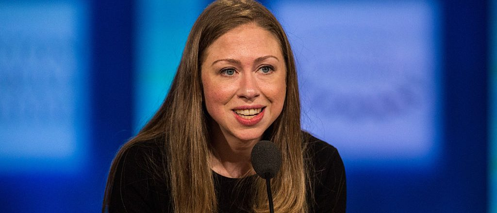 Chelsea Clinton speaks at the Clinton Global Initiative' closing session on September 29, 2015 in New York City. The Clinton Global Initiative, happening simultaneously with the United Nations General Assembly, invites leaders from politics, business and culture to discuss world issues. (Photo by Andrew Burton/Getty Images)