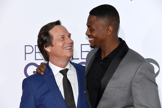 LOS ANGELES, CA - JANUARY 18: Actors Bill Paxton (L) and Justin Cornwell attend the People's Choice Awards 2017 at Microsoft Theater on January 18, 2017 in Los Angeles, California. (Photo by Kevork Djansezian/Getty Images)