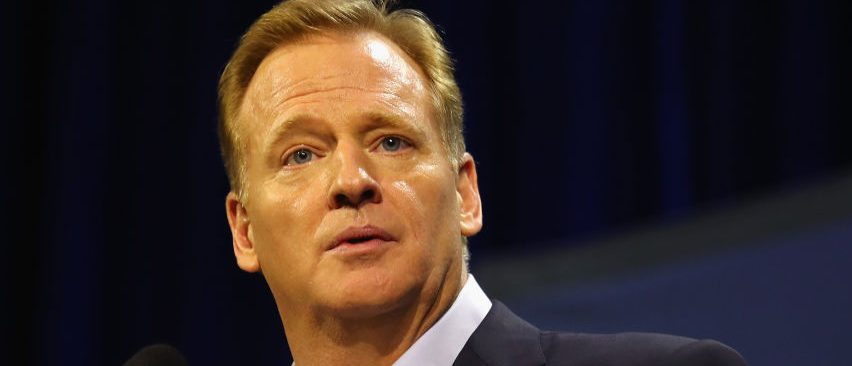 NFL Commissioner Roger Goodell speaks with the media during a press conference at the George R. Brown Convention Center on February 1, 2017 in Houston, Texas.