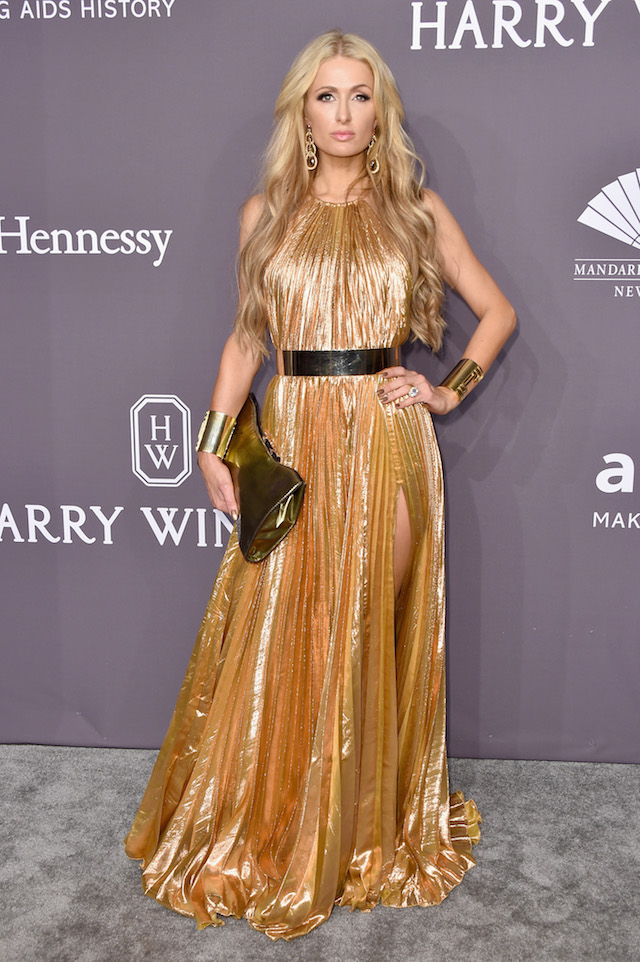 NEW YORK, NY - FEBRUARY 08: Paris Hilton attends the 19th Annual amfAR New York Gala at Cipriani Wall Street on February 8, 2017 in New York City. (Photo by Michael Loccisano/Getty Images)