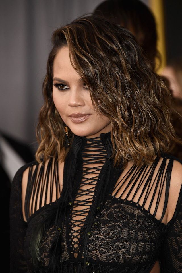 LOS ANGELES, CA - FEBRUARY 12: Model Chrissy Teigen attends The 59th GRAMMY Awards at STAPLES Center on February 12, 2017 in Los Angeles, California. (Photo by Frazer Harrison/Getty Images)