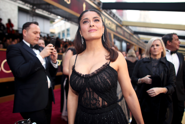 HOLLYWOOD, CA - FEBRUARY 26: Actor Salma Hayek attends the 89th Annual Academy Awards at Hollywood & Highland Center on February 26, 2017 in Hollywood, California. (Photo by Christopher Polk/Getty Images)