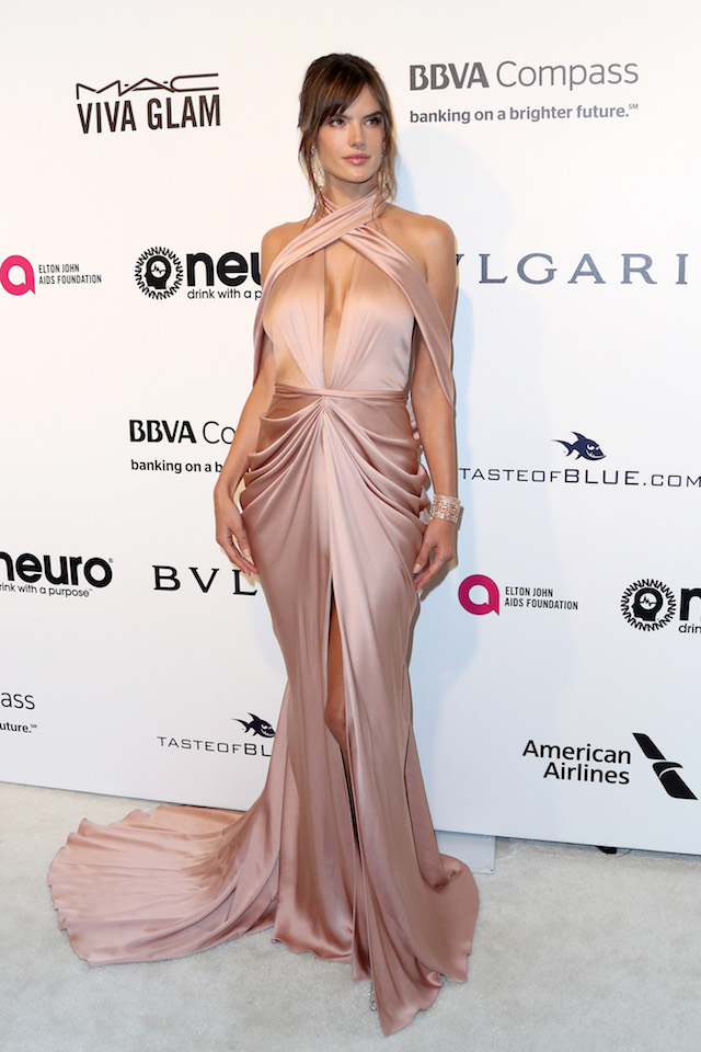 WEST HOLLYWOOD, CA - FEBRUARY 26: Model Alessandra Ambrosio attends the 25th Annual Elton John AIDS Foundation's Academy Awards Viewing Party at The City of West Hollywood Park on February 26, 2017 in West Hollywood, California. (Photo by Frederick M. Brown/Getty Images)