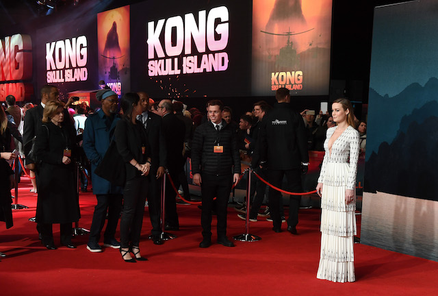 "LONDON, ENGLAND - FEBRUARY 28: Brie Larson attends the European premiere of ""Kong: Skull Island"" at the Cineworld Empire Leicester Square on February 28, 2017 in London, United Kingdom. (Photo by Ian Gavan/Getty Images)"