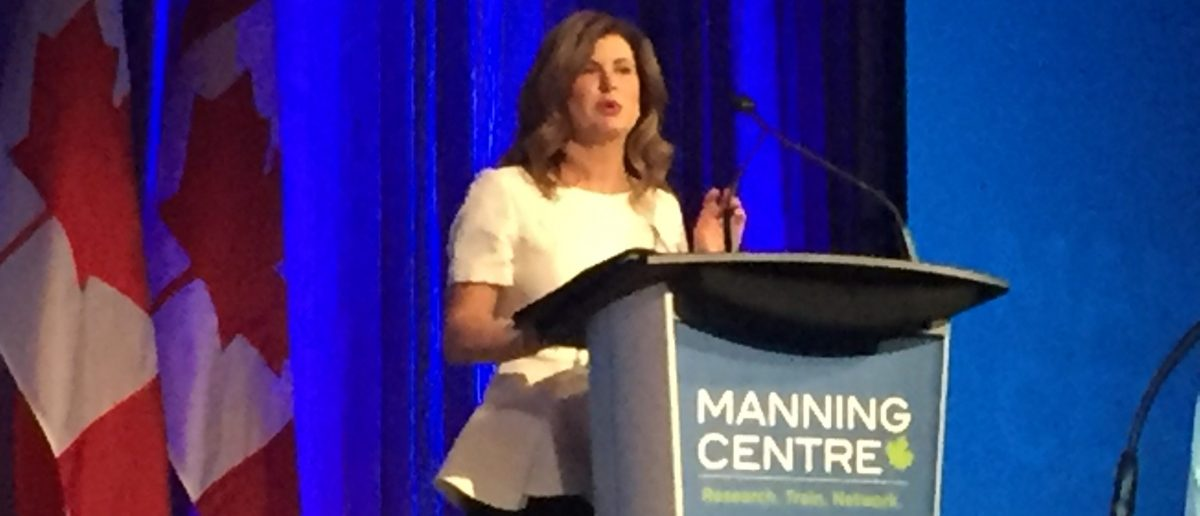 Interim leader of the Conservative Party of Canada Rona Ambrose addresses the Manning Centre Conference on Friday Feb. 24, 2017. (Photo: David Krayden/The Daily Caller)